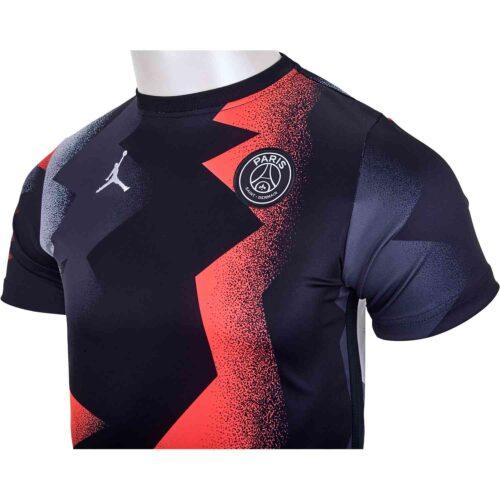 Kids Jordan PSG Pre-Match Top – Black