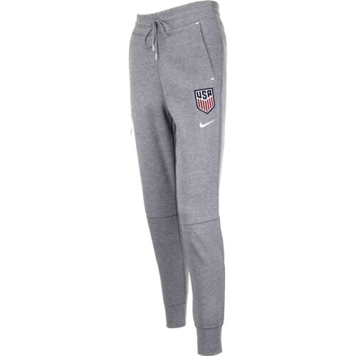 Womens Nike USWNT Tech Fleece Pants – Dark Grey Heather/Matte Silver/White