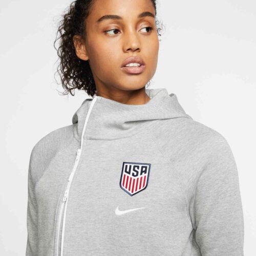 Womens Nike USWNT Tech Fleece Cape – Dark Grey Heather/Matte Silver/White