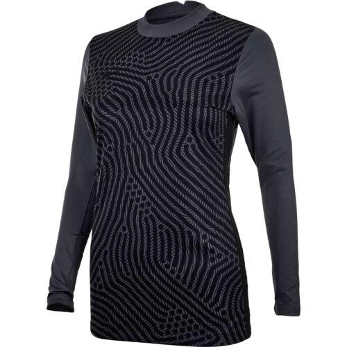 Womens Nike Gardien III Team Goalkeeper Jersey – Dark Grey & Iron Grey with Black