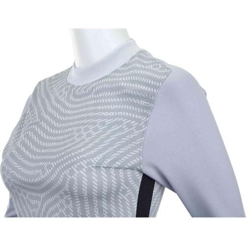 Womens Nike Gardien III Team Goalkeeper Jersey – Pure Platinum & Sky Grey with Wolf Grey