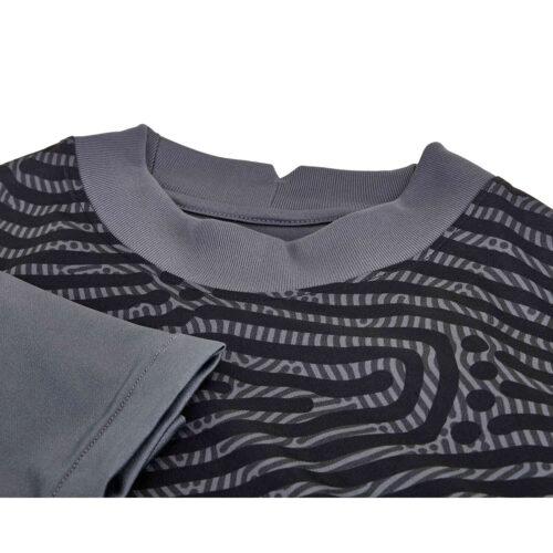 Kids Nike Gardien III Team Goalkeeper Jersey – Dark Grey & Iron Grey with Black