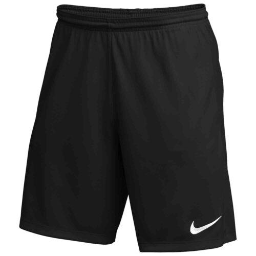 Kids Nike Park III Shorts – Black