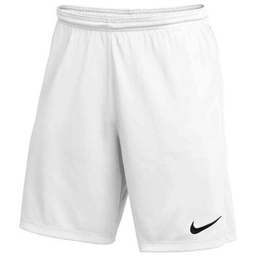 Kids Nike Park III Shorts – White