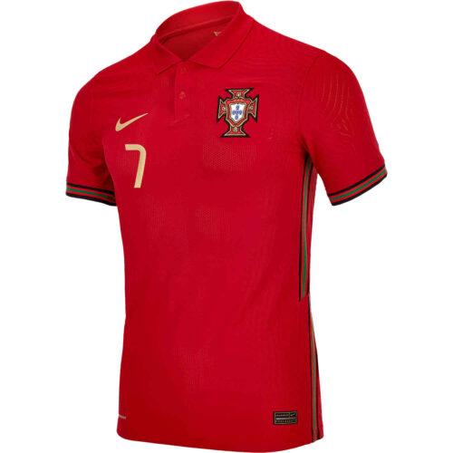 2020 Nike Cristiano Ronaldo Portugal Home Match Jersey