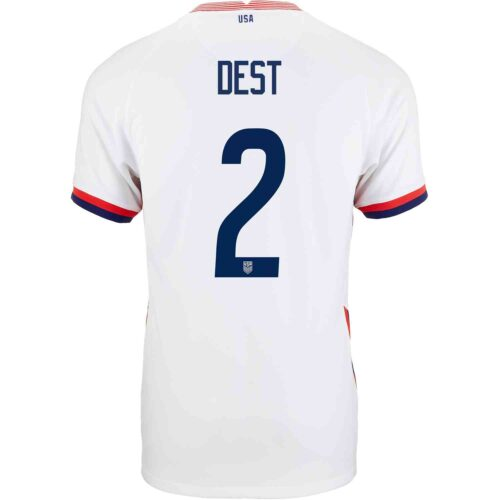 2020 Nike Sergino Dest USMNT Home Match Jersey