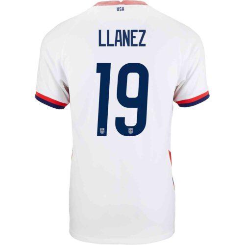 2020 Nike Ulysses Llanez USMNT Home Match Jersey