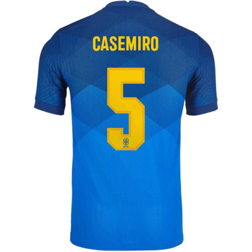 2020 Nike Casemiro Brazil Away Match Jersey