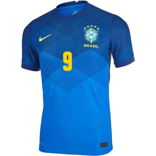 2020 Nike Gabriel Jesus Brazil Away Match Jersey