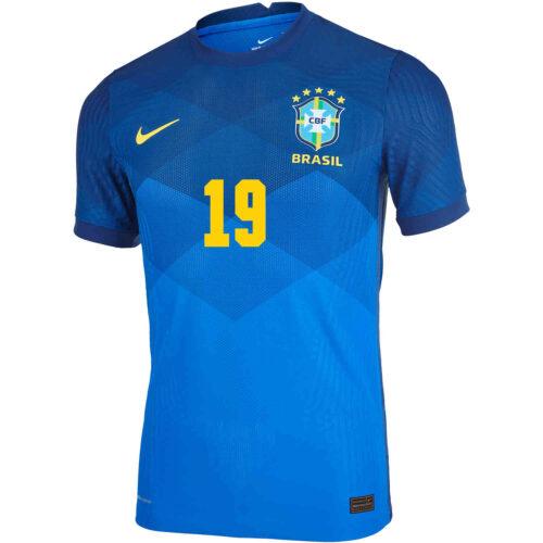 2020 Nike Willian Brazil Away Match Jersey