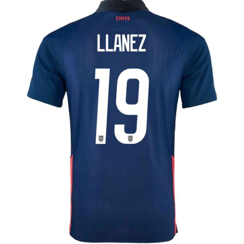 2020 Nike Ulysses Llanez USMNT Away Match Jersey