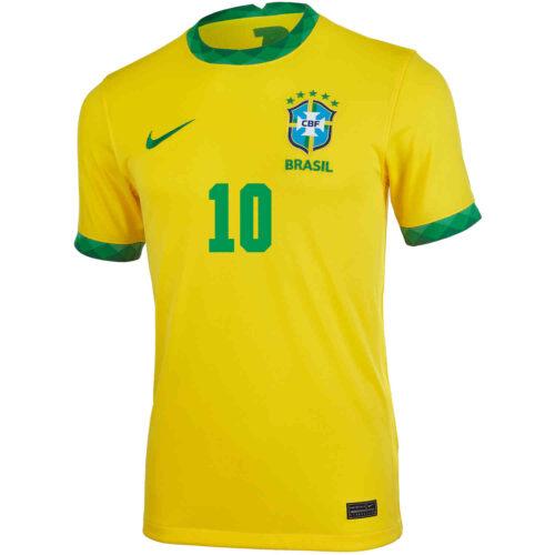 2020 Nike Neymar Jr Brazil Home Jersey