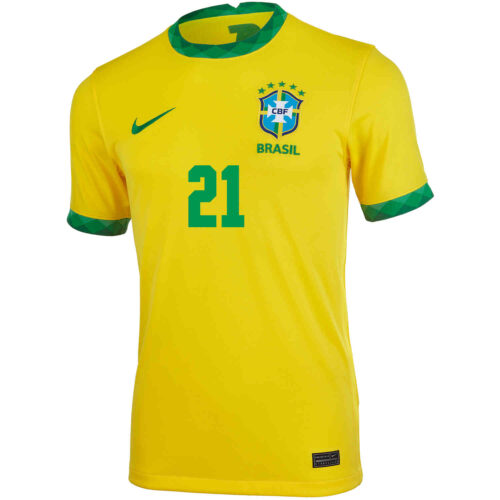 2020 Nike Vinicius Jr Brazil Home Jersey