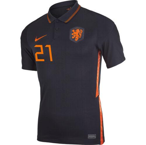 2020 Nike Frenkie de Jong Netherlands Away Jersey