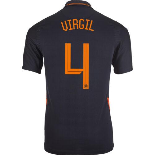 2020 Nike Virgil van Dijk Netherlands Away Jersey