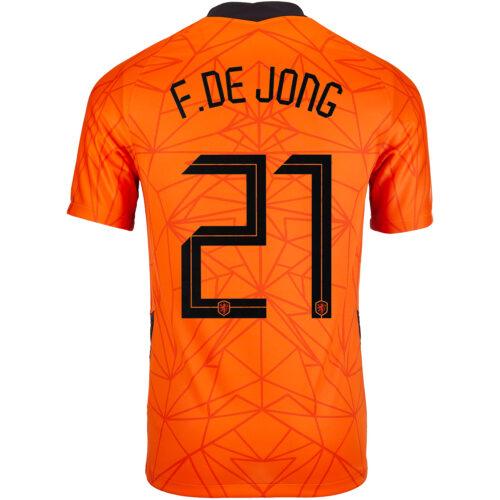 2020 Nike Frenkie de Jong Netherlands Home Jersey