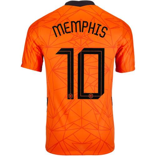 2020 Nike Memphis Depay Netherlands Home Jersey