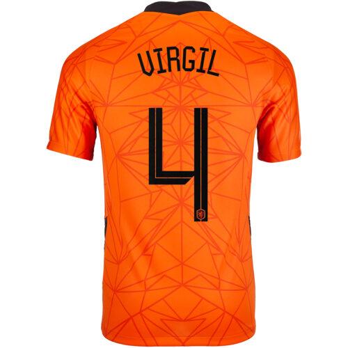 2020 Nike Virgil van Dijk Netherlands Home Jersey