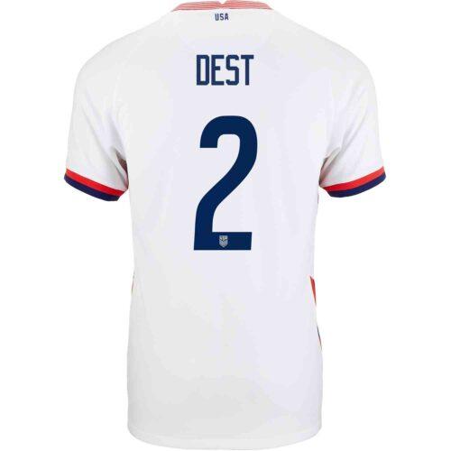 2020 Nike Sergino Dest USMNT Home Jersey