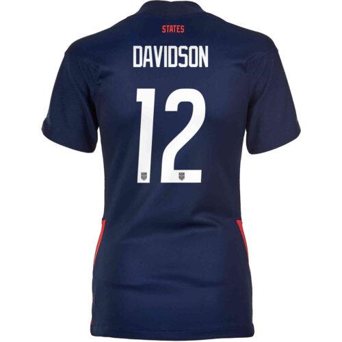 2020 Womens Nike Tierna Davidson USWNT Away Jersey