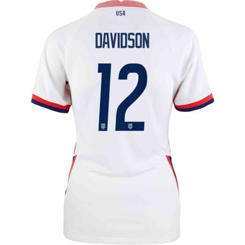 2020 Womens Nike Tierna Davidson USWNT Home Jersey