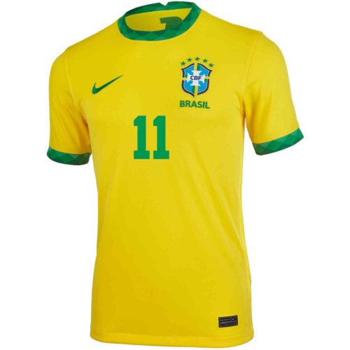2020 Kids Nike Philippe Coutinho Brazil Home Jersey