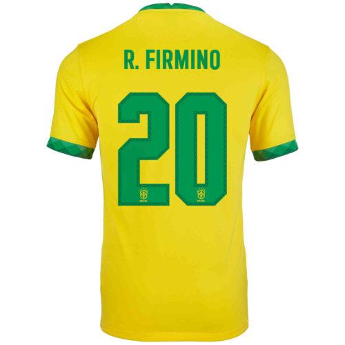 2020 Kids Nike Roberto Firmino Brazil Home Jersey