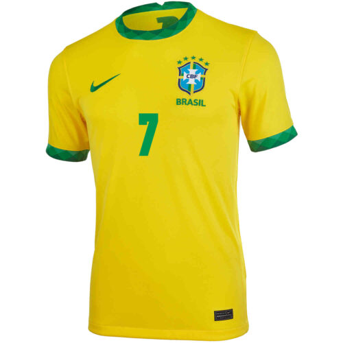 2020 Kids Nike Richarlison Brazil Home Jersey