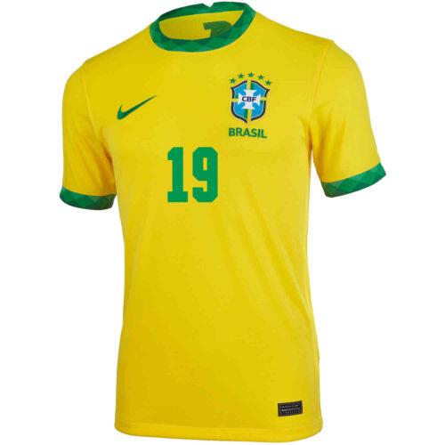 2020 Kids Nike Willian Brazil Home Jersey