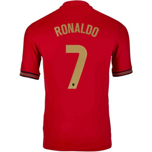 2020 Kids Nike Cristiano Ronaldo Portugal Home Jersey