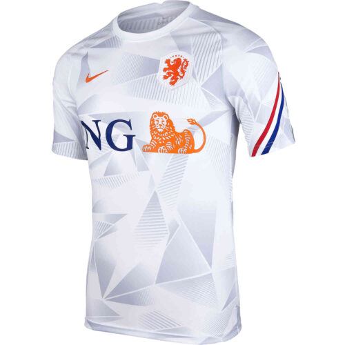 Nike Netherlands Pre-Match Top – White & Safety Orange