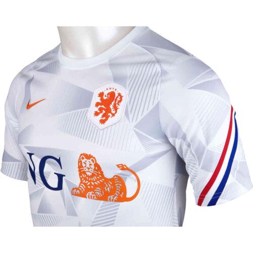 Nike Netherlands Pre-Match Top – White & Safety Orange