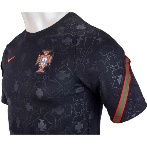 Kids Nike Portugal Pre-Match Top – Black & Challenge Red