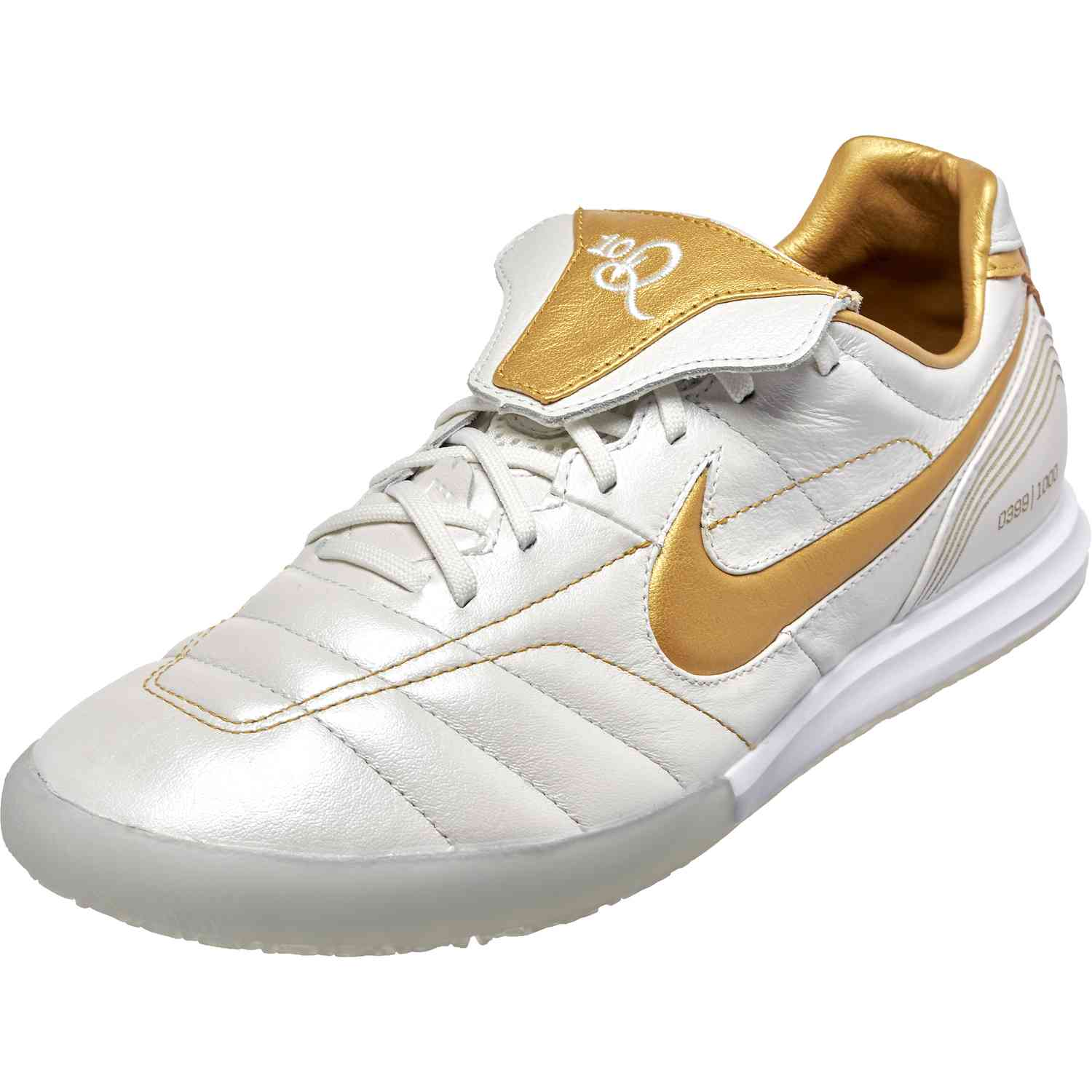 0a56e294fbdd Nike Tiempo Lunar Legend 10R Elite IC - White and Gold - SoccerPro.com