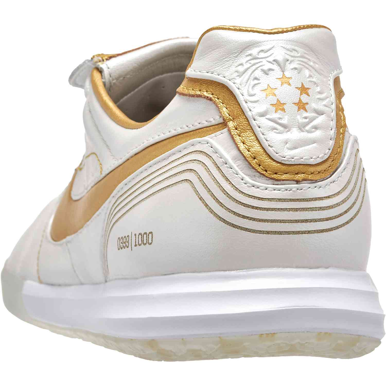 712b857f5d5 Nike Tiempo Lunar Legend 10R Elite IC - White and Gold - SoccerPro.com