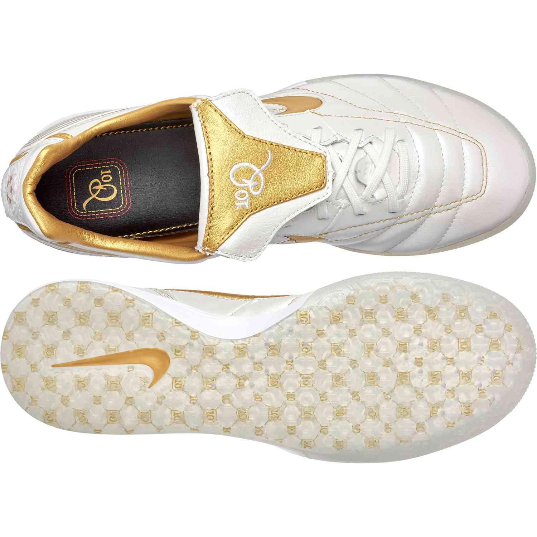 Nike Tiempo Lunar Legend 10R Elite IC White and Gold