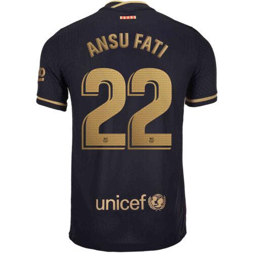 2020/21 Nike Ansu Fati Barcelona Away Match Jersey