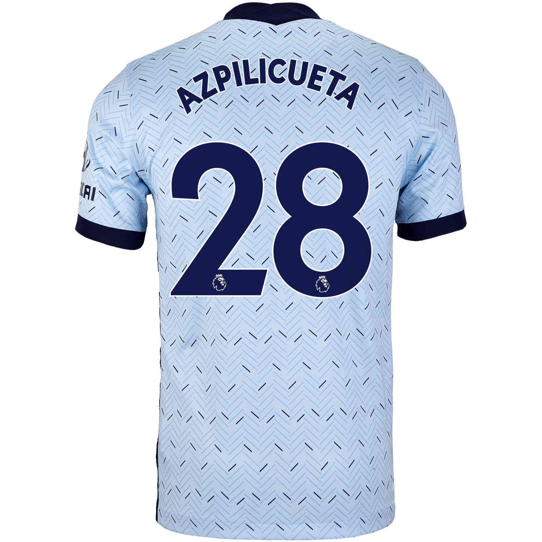 2020/21 Nike Cesar Azpilicueta Chelsea Away Jersey - SoccerPro