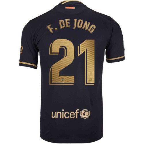 2020/21 Kids Nike Frenkie de Jong Barcelona Away Jersey