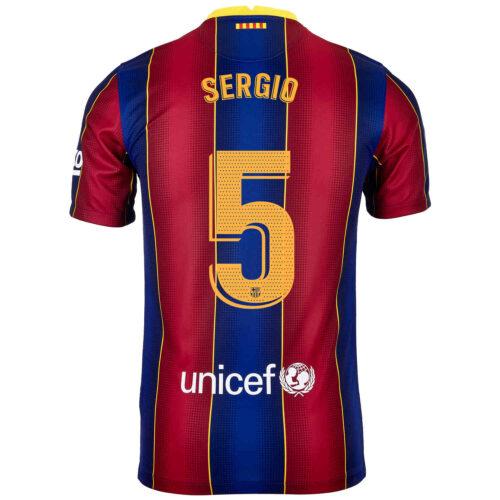 2020/21 Kids Nike Sergio Busquets Barcelona Home Jersey