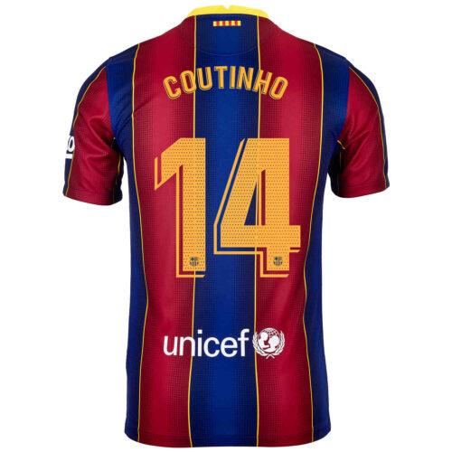 2020/21 Kids Nike Philippe Coutinho Barcelona Home Jersey
