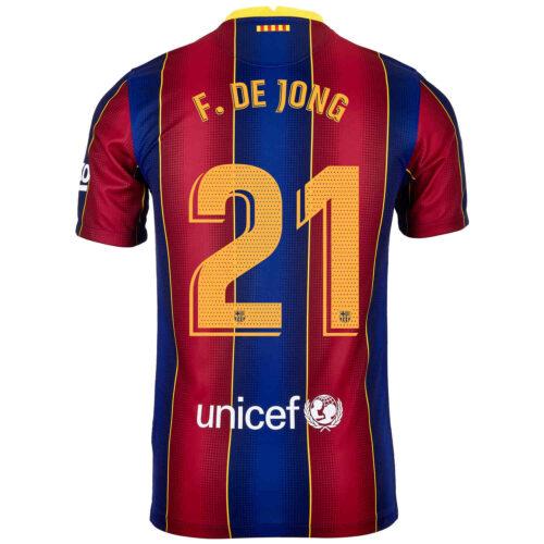 2020/21 Kids Nike Frenkie de Jong Barcelona Home Jersey
