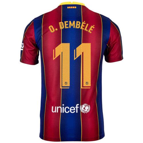2020/21 Kids Nike Ousmane Dembele Barcelona Home Jersey