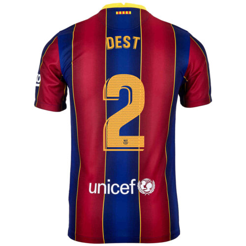 2020/21 Kids Nike Sergino Dest Barcelona Home Jersey