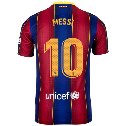 2020/21 Kids Nike Lionel Messi Barcelona Home Jersey