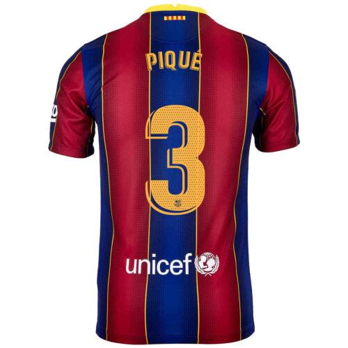 2020/21 Kids Nike Gerard Pique Barcelona Home Jersey