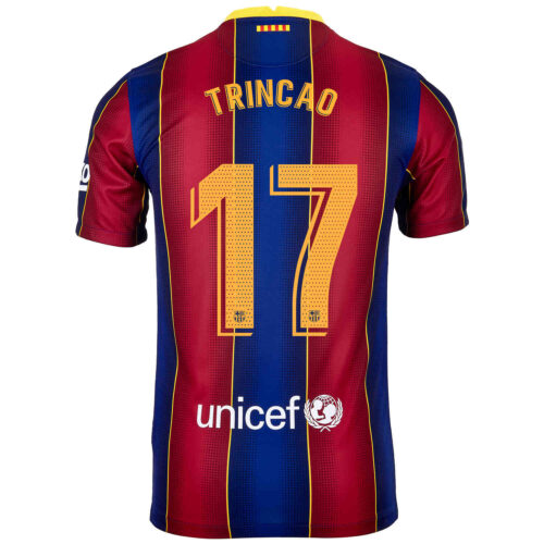 2020/21 Kids Nike Francisco Trincao Barcelona Home Jersey