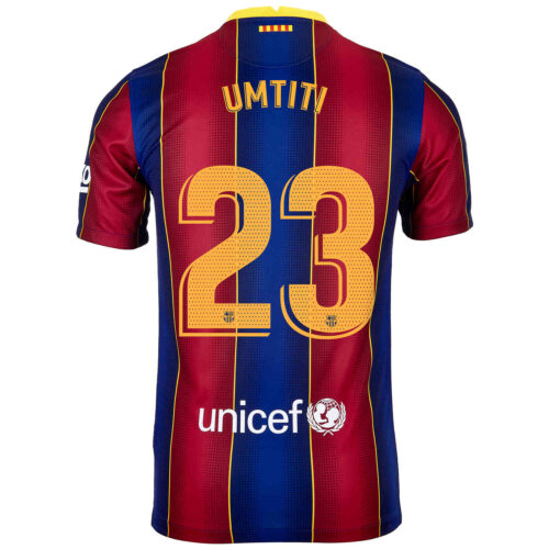 2020/21 Kids Nike Samuel Umtiti Barcelona Home Jersey
