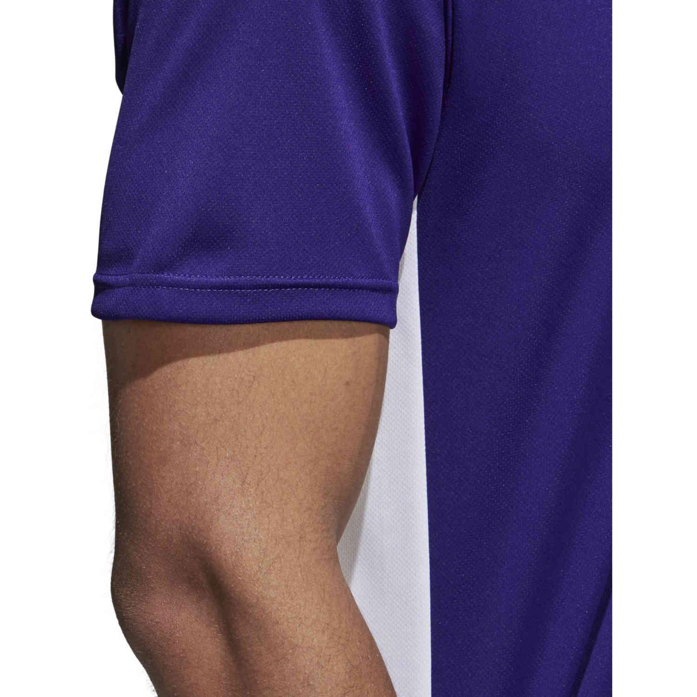 adidas Entrada 18 Jersey - Collegiate Purple - SoccerPro