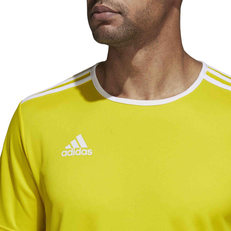 adidas Entrada 18 Jersey - Yellow - SoccerPro